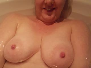 Do you like my warm, milk-filled flotation devices?