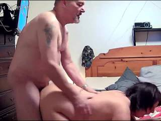 After a long for play and fuck session  We finished off with a load in her ass.