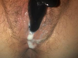 Had to fill that hot pussy with more than just the toy hehe 😜