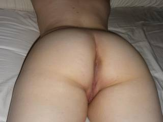 on the bed, completely naked, hubby jerking off and taking photos, who will fuck me?