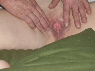 wide open and ready for cock