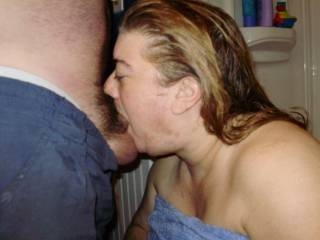 Wow that looks so good, I'm so jealous, wish it was my cock she was sucking