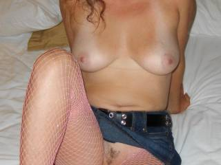 great tits, love your sexy little bush too