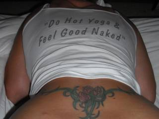 Now here is a woman that knows what it's about.  Hot Yoga and good fucking! :)