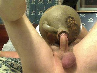 Fucking my toy and bending my dick for a great feeling while ejaculating.