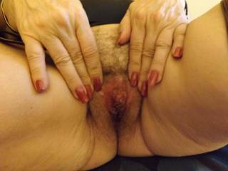 mmmm luvly  wanna get  tongue inside and make you all wet and juicy  and suck on that big clitty i can see poking through mmmm very tasty xx