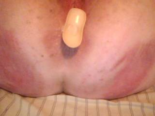 Remove that plug and insert this raging hard cock stretching your ass ever so wide as the big head goes deep while these firm fingers squeeze your hard nipples and manipulate that hot clit of yours making you cum to an earth shattering climax as I pump your ass full of hot cum!