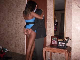 Having fun at home! She loves having her ass grabbed!