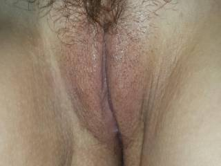 gorgeous shaved perfectly smooth sexy pussy lips and plenty of stunning bush to rub my nose in, beautiful
