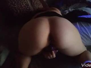 My wife playing with her ass and pussy and than sucking the skin off my dic