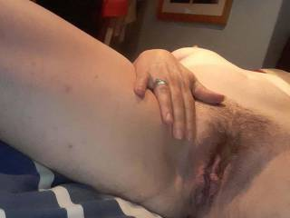 Wife shows pussy on cam