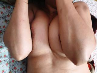 My wife was hiding his tight boobs on the bed from my Asian friend\'s lusty eyes and his naked throbbing hungary thick and long mushroomed cock !!!.She was in shame and ready to be fucked by him !!!