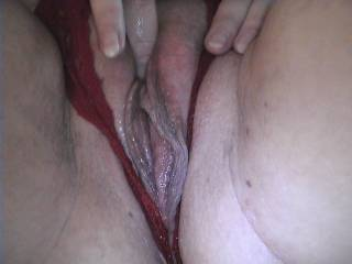 her pussy is soaked. just had fun. Who is next?