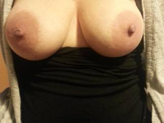 you have beautiful breasts and sexy nipples.  i'd like to suck them