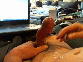 Brilliant cum shot. Love it, and your cock is so so Stiff! Must have been a massive orgasm for you
