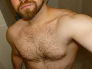 Such sexy shoulders (one of my favorite things about a guy).  Very attractive!