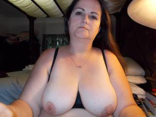 Just incredible tits. Such beautiful eyes and face. Love to rub my cock all over those incredible tits.