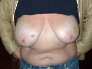 Just giving hubby a quick flash. I\'m in the mood!!!