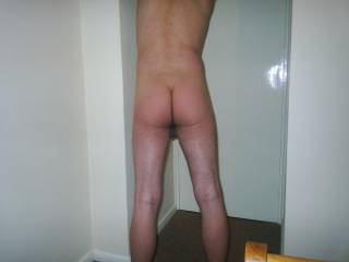 rear view of hubby