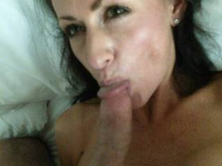 Love that sultry look they get with your cock in their mouth!