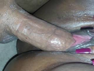 very hot close up fuck session of me using her pussy