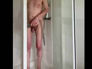 Just showering ready for us to have some fun.