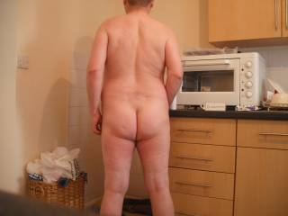 A view from the rear of me enjoying my nudist lifestyle which I have done for many years now - or naturist lifestyle if you prefer