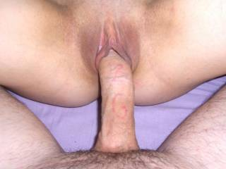 looks liek she needs a tongue on her hard clit as you slide in