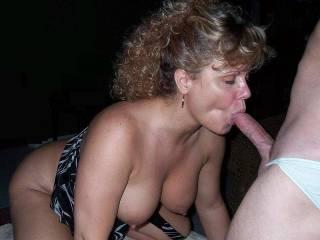 Horny wife giving head
