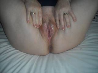 My wet pussy after watching porn. What do you think
