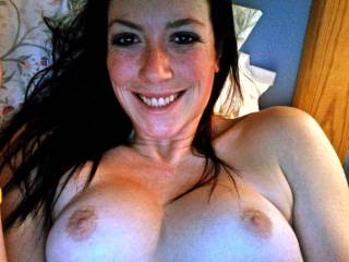 love to give your friend a fuck and watch those pretty, perky tits bounce. and the look on her face when she feels this big cock stretch her... well she won't *just* be smiling