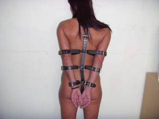 my dirty girl strapped up ready for use, more to come & vids