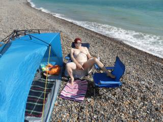 Hi all I am getting a little braver every time we visit the beach just had to play comments welcome mature couple