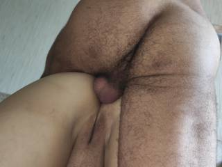balls deep in her tight asshole