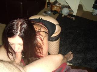 Mrs P sucking my cock after i fucked her pussy, she likes a nice hard cock in her mouth, shed like another one in her pussy while she sucks it, who wouldn\'t eh girls!