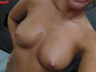 Cum on my face and tits!!