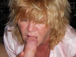 She was addicted to sucking cock, as well as a expert pussy licker, but she did enjoy the feel of a cock, ANY COCK, in her mouth, & she was always eager to swallow their 'cock juice'.  A TRUE COCK WOSHIPPING WHORE!!  And proud of it!!  She has a long list