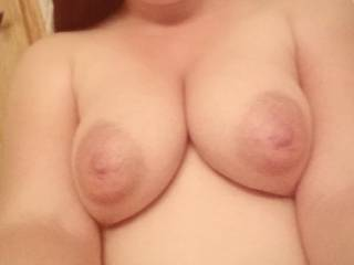 Beautiful tits, all they need is my cock between them.