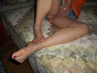 I could use some one sucking my toes and your partner licking my pussy