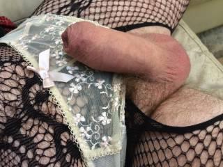 Panties, stockings and suspenders. Feeling sexy...