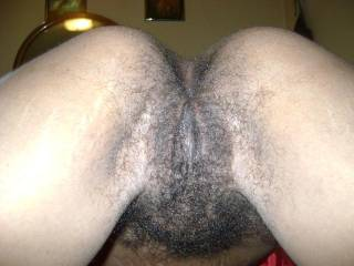 my hairy ass and pussy up close
