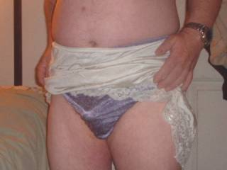 Ex wife\'s panties I used to love playing in these, especially the morning after she\'d cum home from a girls night out & the crotch with still be damp from sperm leaking out overnight... I also loved playing in these while I watched her get some cock !