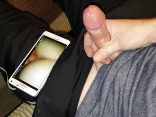 I had recorded this amazing volley player riding my cock the day before and she found out that night.  She told me she was upset I didn't tell her I was recording us and to make up for it I had to take a video of me getting myself off to watching our vid.