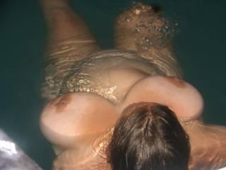 Graet photo love your gorgeous tits