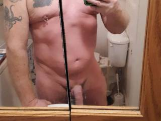Just out of the shower freshly shaved and ready for anything  and everything !
