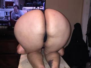 Girlfriend showing big booty
