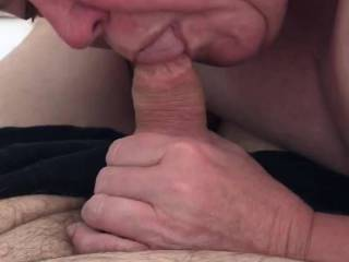 Nothing like a surprise blow job!   She's awesome at it don't you think?