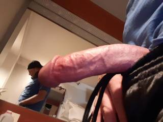 Watched my girl getting ready for work. She was completely naked but had to rush out. I was throbbing and couldnt wait to relieve myself.