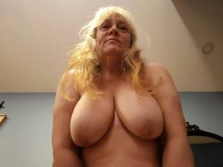 My big mature tits need to be cock slapped! Rub your precum all over my nipples and areola. And then unload all your beautiful cum over my needy married tits.