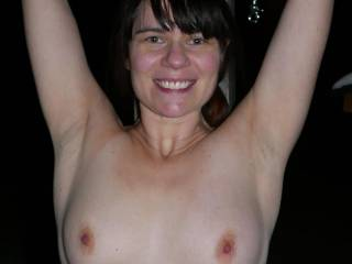 Wife Mary tied up nude in the cold